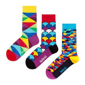 Set 3 perechi de șosete Ballonet Socks Bright Sun în cutie de cadou, mărime 36 - 40