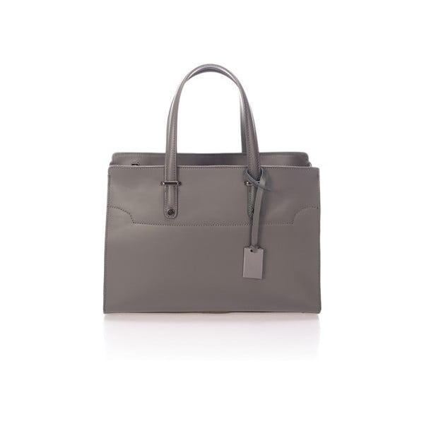 Tmavě šedá kožená kabelka Giorgio Costa Prato