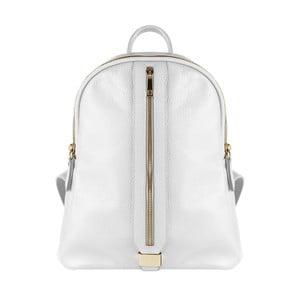 Bílý kožený batoh Maison Bag Lisa