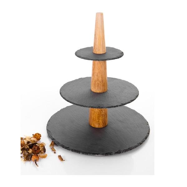 Servírovací třípatrový podnos Bambum Etna