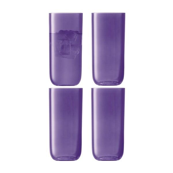 Centro Purple, vysoká sklenice, sada 4 ks
