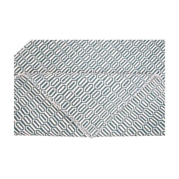 Koberec Flat Honey Comb Teal, 160x230 cm