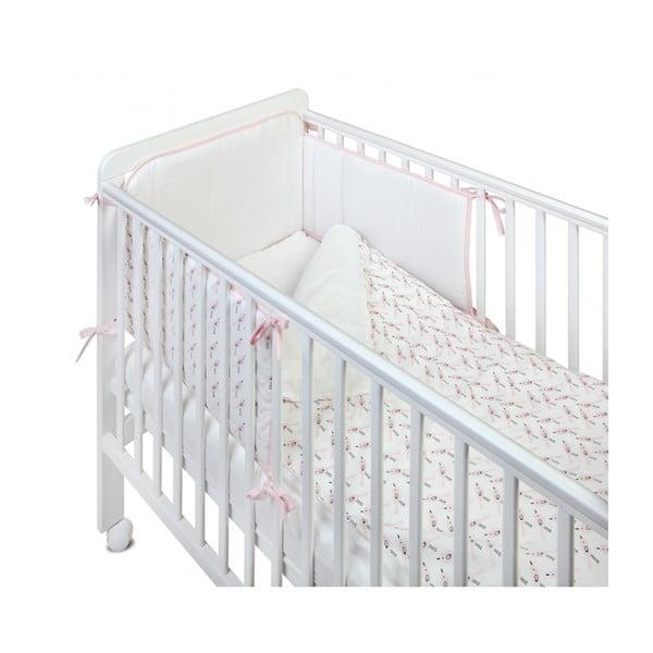 Ochraniacz tekstylny do łóżeczka YappyKids Birds, 60x60x60 cm