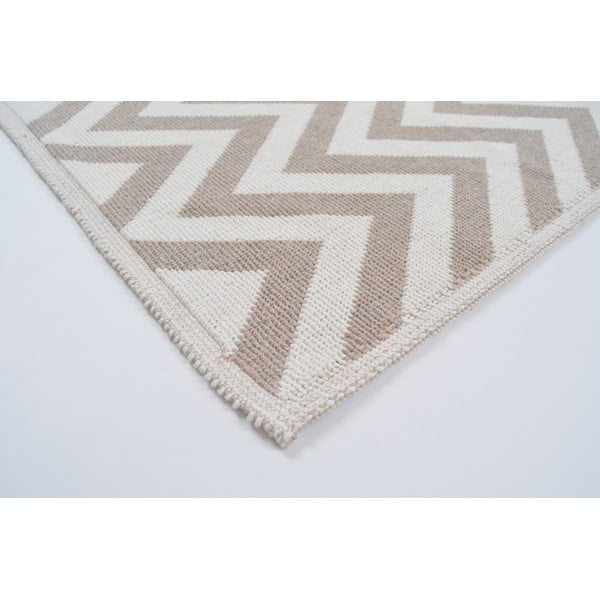 Odolný koberec Vitaus Zikzak Bej, 60x90cm