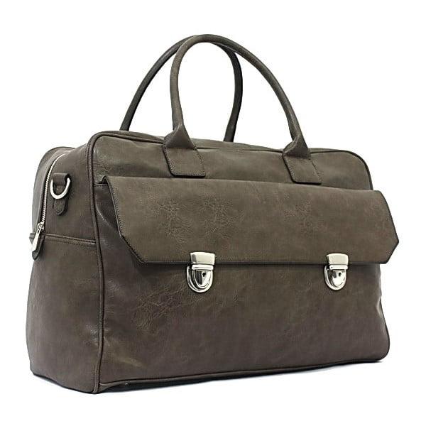 Cestovní taška Bobby Black - khaki zelená, 45x33 cm