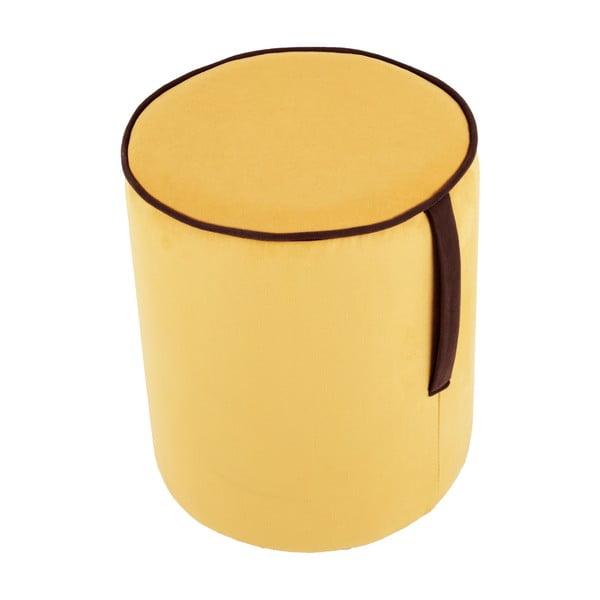 Kulatý puf Pois, žlutý