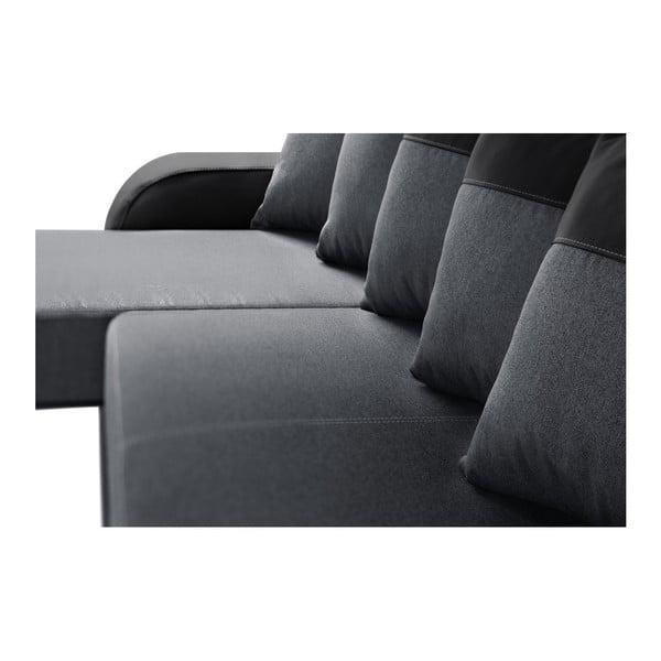 Antracitovo-černá sedačka Interieur De Famille Paris Destin, levý roh