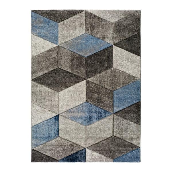 Modrošedý koberec Universal Indigo Azul Robo, 140x200cm