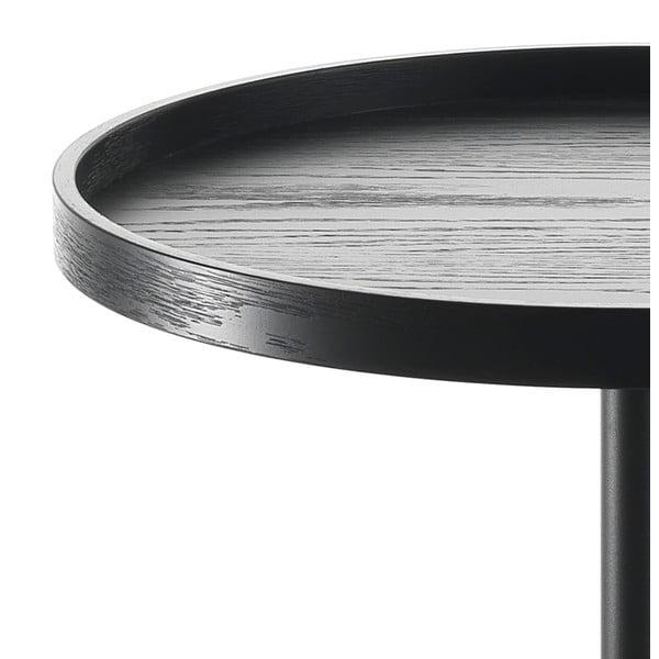 Černý odkládací stolek Tomasucci Ambrogio, Ø46cm