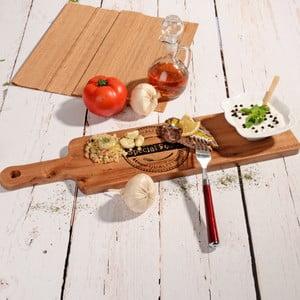 Bambusové servírovací prkénko s miskou Flop