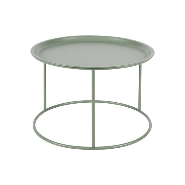 Světle zelený konferenční stolek WOOOD Ivar, Ø56cm