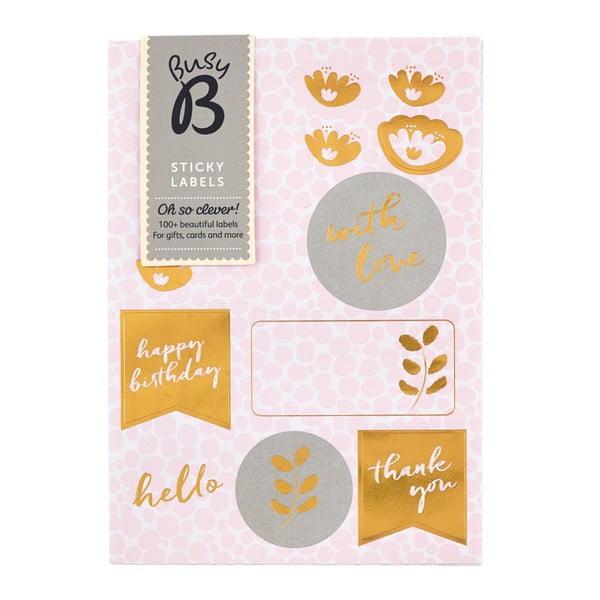 Sada lepiacich papierikov Busy B Pinky Labels