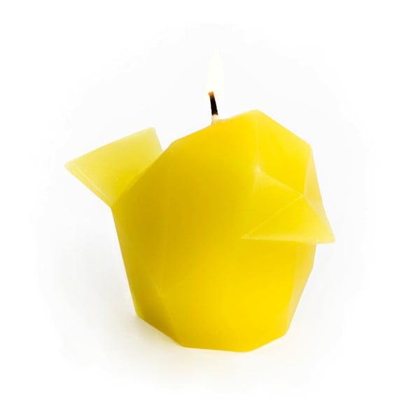 Žlutá svíčka Pyropet Bíbí
