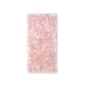 Covor din blană de oaie Royal Dream Zealand, 140 x 70 cm, roz