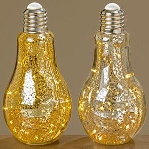 Sada 2 závěsných světelných LED dekorací Boltze Bulb,výška23cm