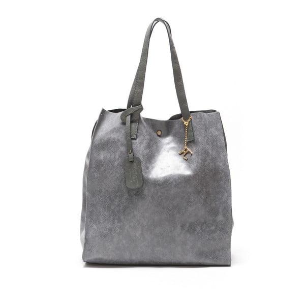 Kožená kabelka Renata Corsi 892, šedá