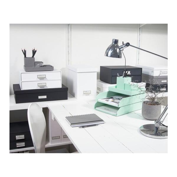 Bílý 2patrový šuplík na dokumenty Bigso, 33 x 22,5 cm