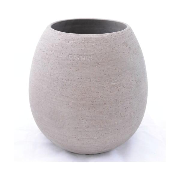 Keramický květináč Goccia 38 cm, šedý