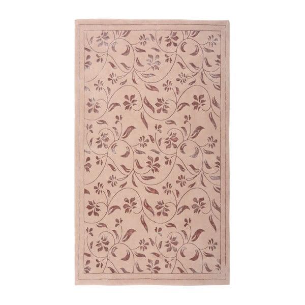 Růžový koberec Floorist Florist, 80x300cm