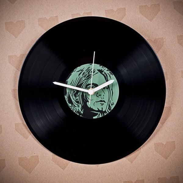 Vinylové hodiny Kurt Cobain