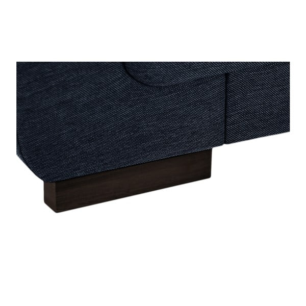 Tmavě modrá rohová pohovka Florenzzi Casavola, šířka 2,57m, levýroh