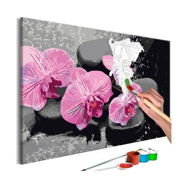 DIY set na tvorbu vlastného obrazu na plátne Artgeist Orchid Zen, 60 × 40 cm