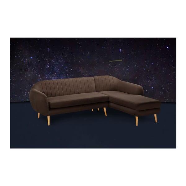 Pohovka Comete Brown s lenoškou na pravé straně