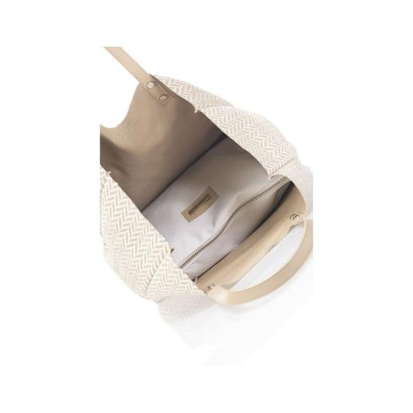 Béžová oboustranná kožená kabelka Krole Korrine