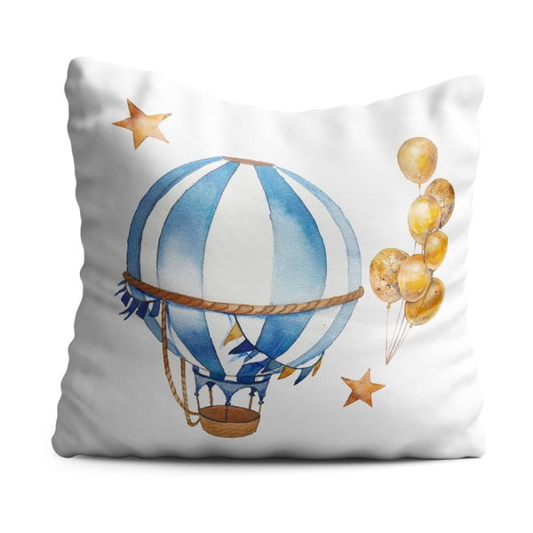 Dětský polštář OYO Kids Air Balloon Adventures, 40 x 40 cm