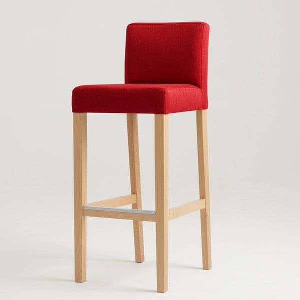 Wilton piros bárszék natúr lábakkal - Custom Form
