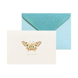 Sada 10 komplimentek s obálkami Portico Designs FOIL Butterfly