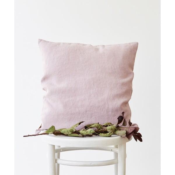 Față de pernă din in Linen Tales, 45 x 45 cm, violet lavandă