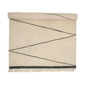 Vlněný koberec Bloomingville Creamy Minimal, 300x200cm