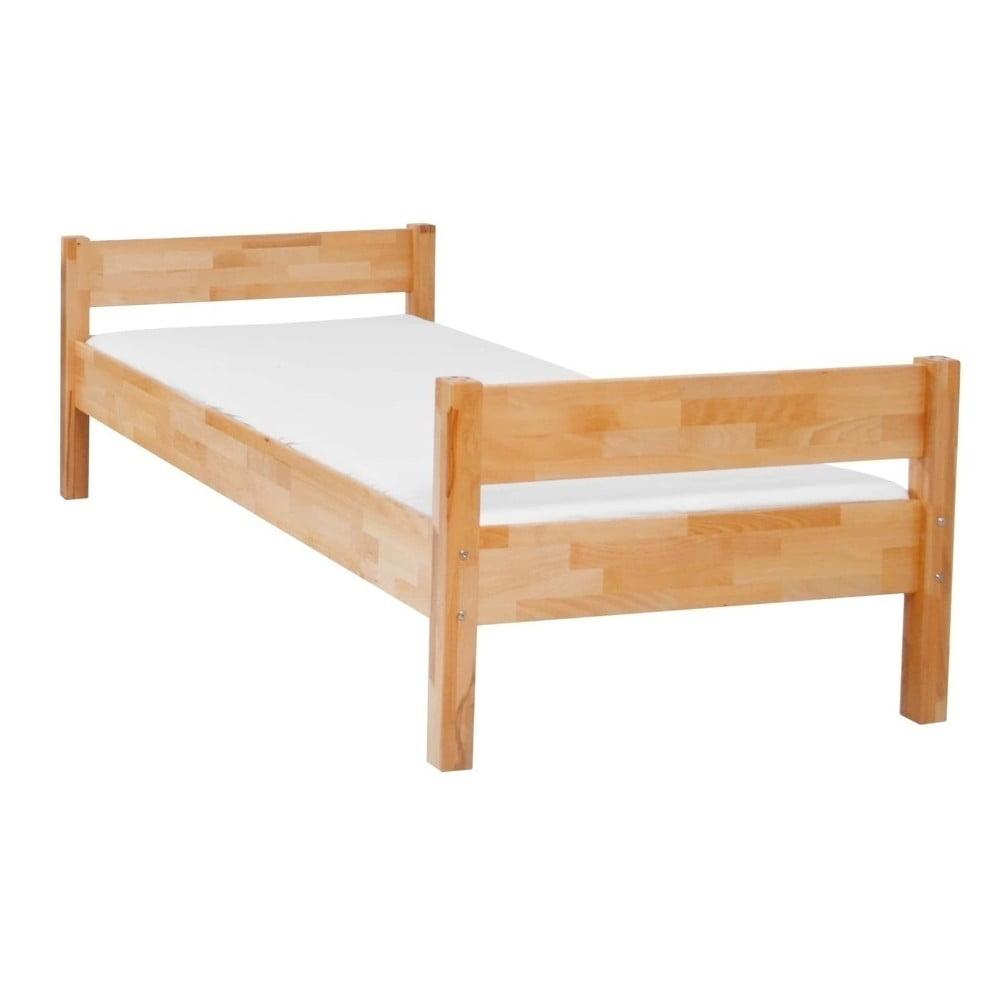 Dětská jednolůžková postel z masivního bukového dřeva Mobi furniture Mia, 200x90cm