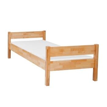 Pat din lemn masiv de fag pentru copii Mobi furniture Mia, 200 x 90 cm