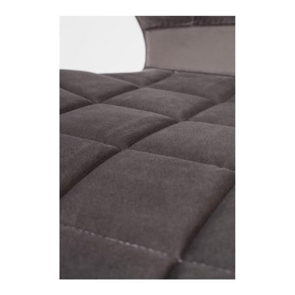 Sada 2 šedých židlí Zuiver OMG Velvet