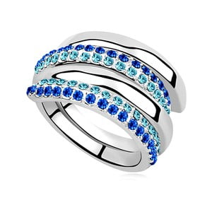 Prsten s krystaly Swarovski Elements Crystals Albertine, vel.54
