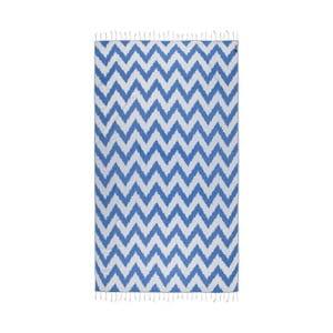 Prosop baie hammam Kate Louise Laila, 165 x 100 cm, albastru
