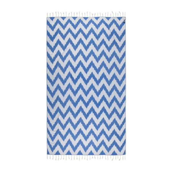 Laila kék hammam fürdőlepedő, 165 x 100 cm - Kate Louise