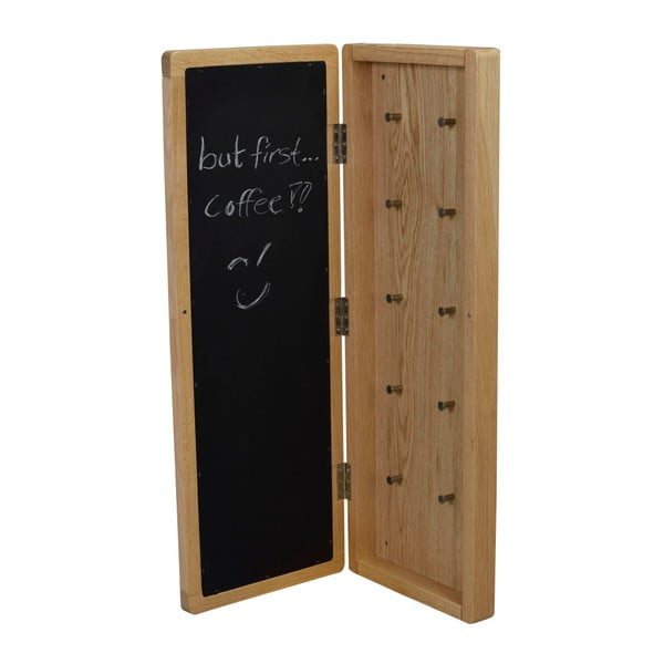 Přírodní dubová zrcadlová skříňka na klíče Folke Gorgona