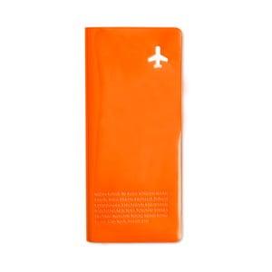 Peněženka na cestovní dokumenty, oranžová