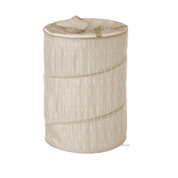 Béžový koš na prádlo Unimasa Sense, Ø 40 cm