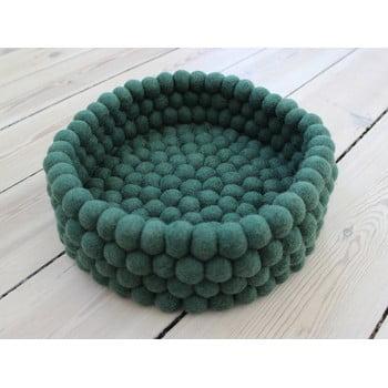 Coș depozitare cu bile din lână Wooldot Ball Basket, ⌀ 28 cm, verde închis