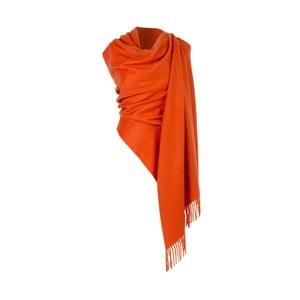 Oranžový kašmírový šátek Hogarth, 190x70cm