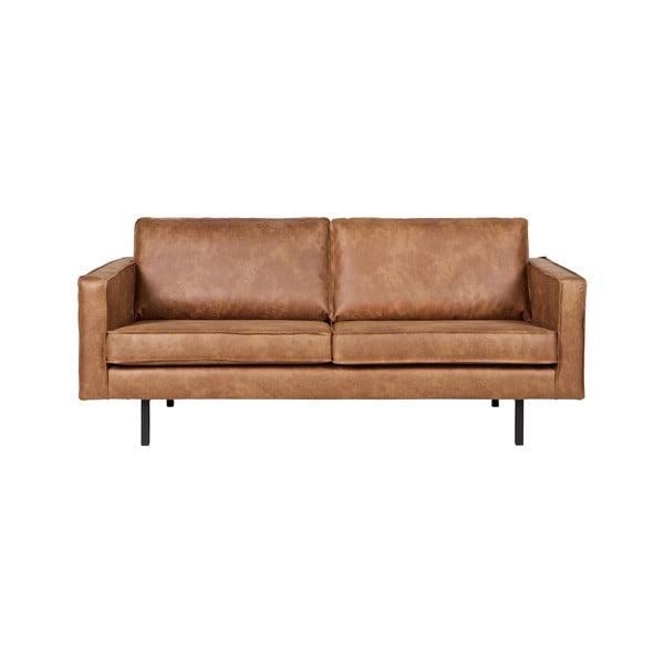 Rodeo barna kétszemélyes kanapé, újrahasznosított bőrhuzattal - BePureHome