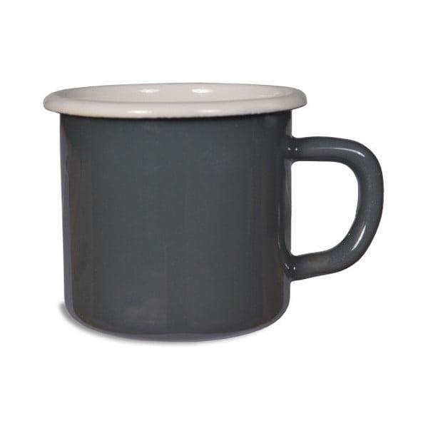 Cană emailată pentru cafea Garden Trading In Charcoal, gri