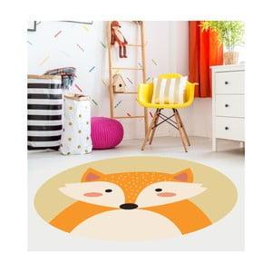 Dětský vinylový koberec Floorart Liška, ⌀ 150 cm
