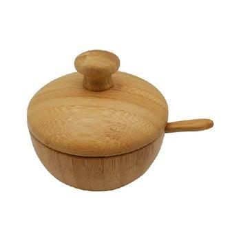 Zaharniță cu linguriță și capac din bambus Bambum Leon de la Bambum