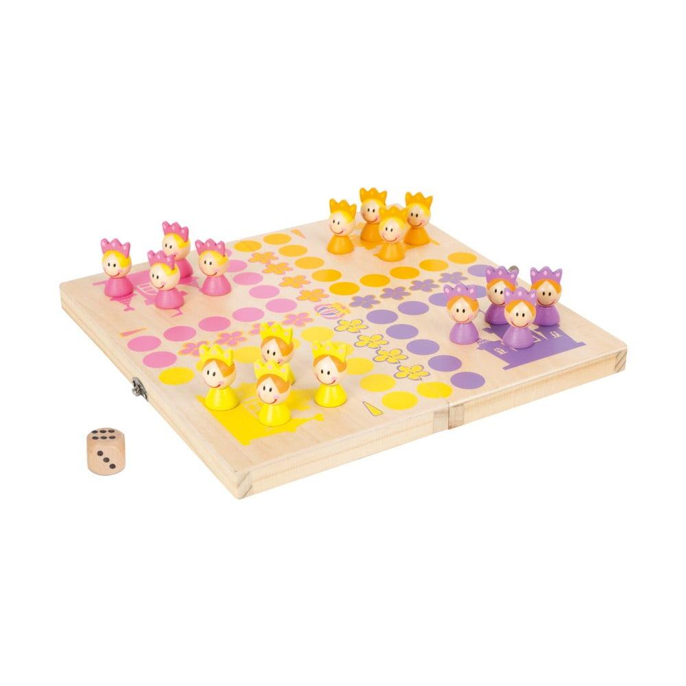 Dřevěná desková hra Legler Ludo Princess Legler