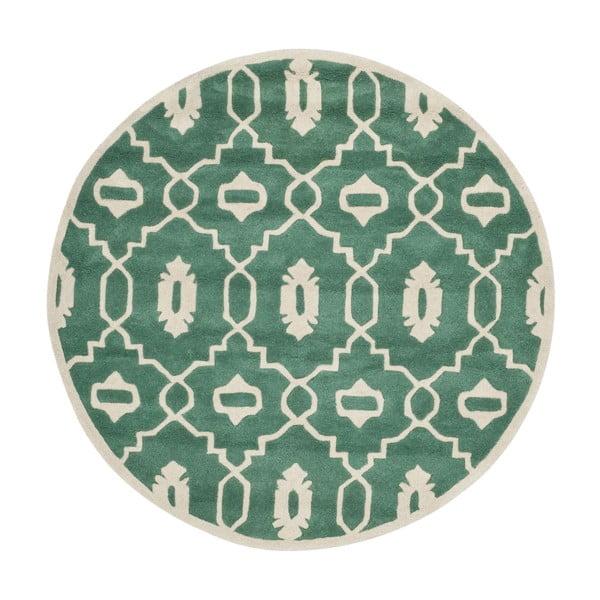 Mentolově zelený koberec Safavieh Mondello, ø 152 cm